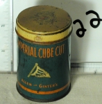Imperial Cube Cut tobacco Tin Allen and Ginter's