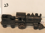Cast iron train with tender Hubley