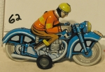 Tin motercycle & rider
