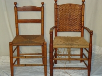 Ladder back chairs - set of 6