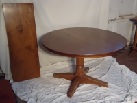 Haywood Wakefield round table with 6 chairs